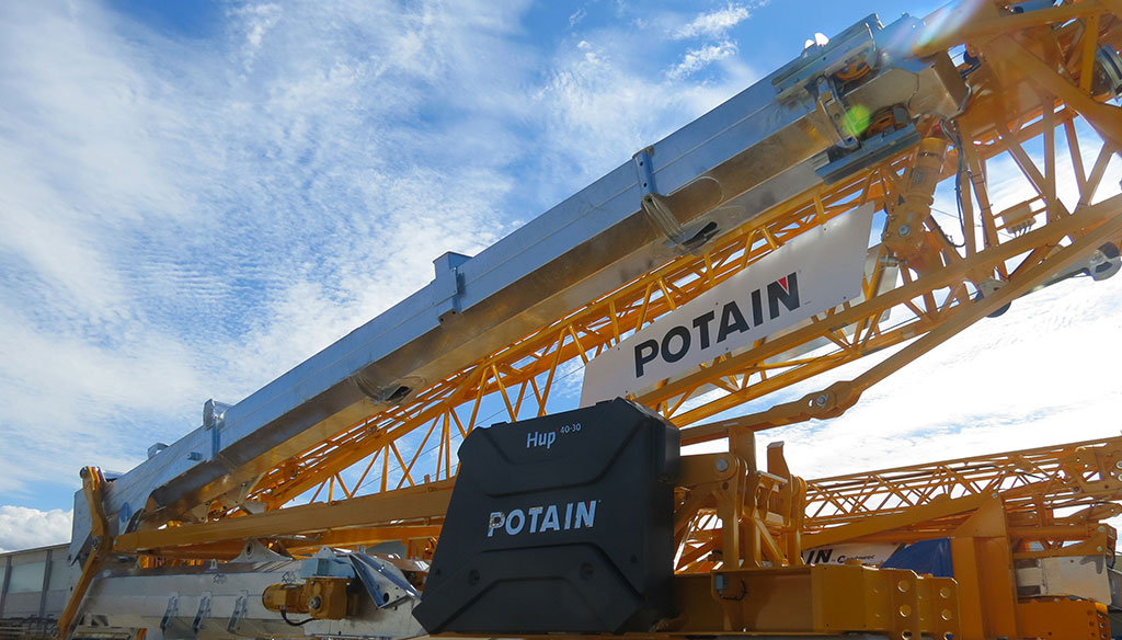 Greater Versatility is a Given With the Potain Hup 40-30 Self-erecting Crane