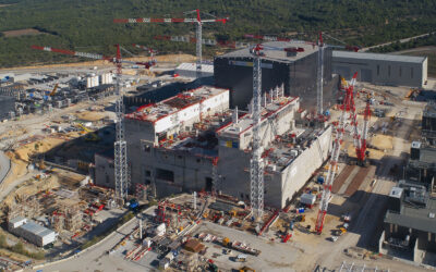 Six Years of Potain Cranes at ITER Power Plant Construction Site